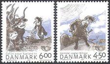 Denmark 2004 Nordic Mythology/Horn/Bridge/Cattle/Ploughing/Legends 2v set n42636