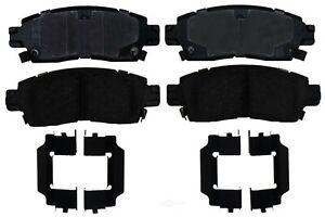 Disc Brake Pad Set-Semi Metallic Disc Brake Pad Rear ACDelco Pro Brakes 17D883MH