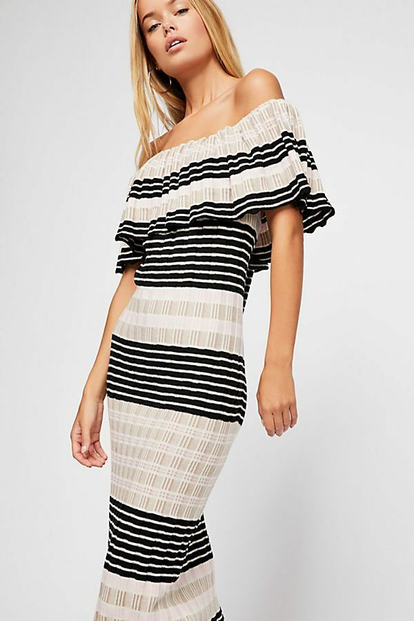 Free People NWT Size Small Off Shoulder Knit Dress NEW S