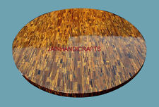 """INLAY MARBLE DINING CORNER  TABLE TOP 30"""" MOSAIC ROUND Floral Mosaic Decor 2ZP"""