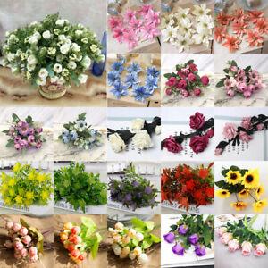 10Pcs Bulk Silk Flowers Fake Rose Peony Heads Home Wedding Party Decoration DIY