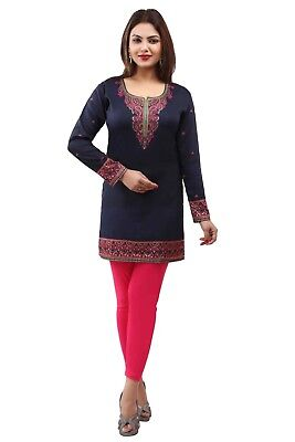 Bollywood Indian Designer Kurta Kurti Women Ethnic Pakistani Dress Tunic E-1221