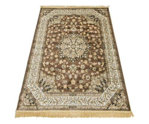 Quality Rug with Fringe. drawing Persian Eastern carpet for living room