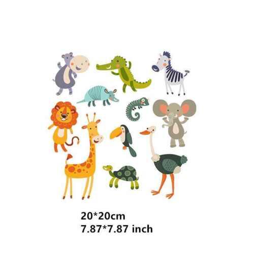 DIY Animal Heat Transfer Sticker Cartoon Patches Press Washable Iron On Applique
