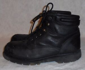 88713457458 Details about BIG MAC, MEN'S BLACK LEATHER STEEL TOE LACE UP ANKLE BOOT,  SIZE 12 M