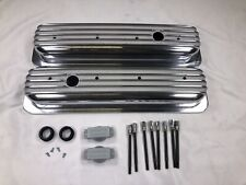 1987 97 Chevy 50l 57l Tall Polished Aluminum Center Bolt Valve Covers 350