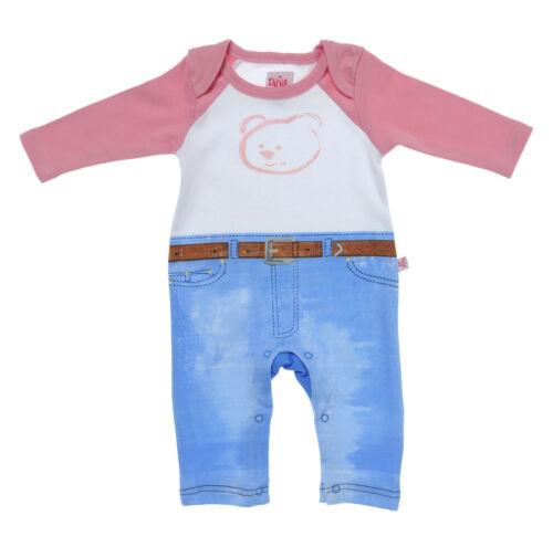Genuine dijjie Bebé Mono Corto Rosa T shirt y jeans Babygrow Algodón Orgánico