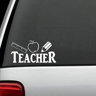 F1051 Teacher Ruler Apple Pencil Decal