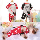 Mickey Pet Dog Jumpsuit Clothes Warm Yorkie Puppy Pajamas Winter Cat Dog Coats