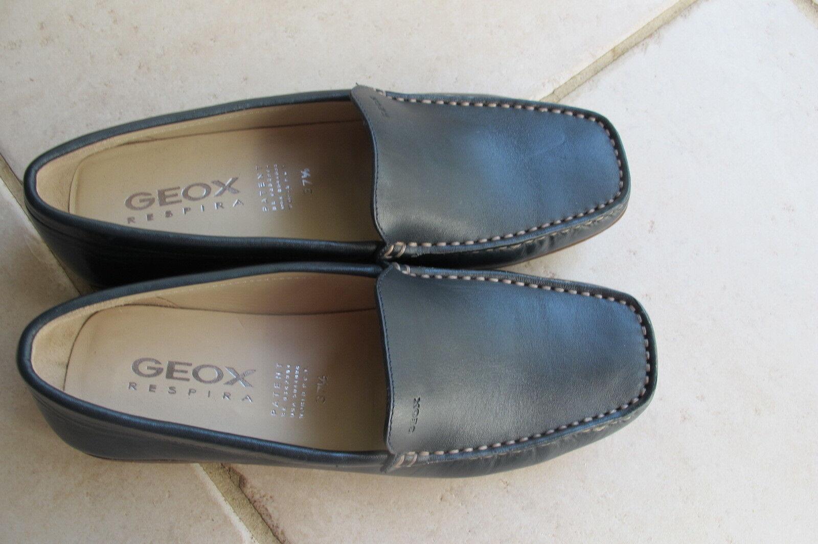 Geox Damenschuhe Respira Navy Blau New. Leder Loafer.Größe 37.5. New. Blau 519c28