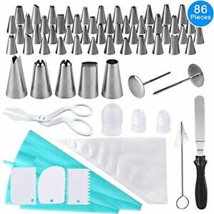 Cake Piping Tips Set, 86 Pieces Decorating Nozzles Kit ...