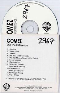GOMEZ-Split-The-Difference-UK-13-trk-promo-publishing-CD-Warner-Chappell