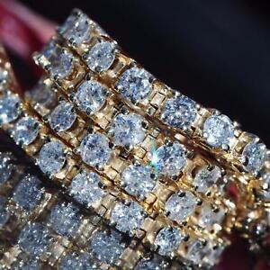 14k-yellow-gold-tennis-bracelet-5-00ct-natural-diamond-7-0-034-vintage-11-2gr