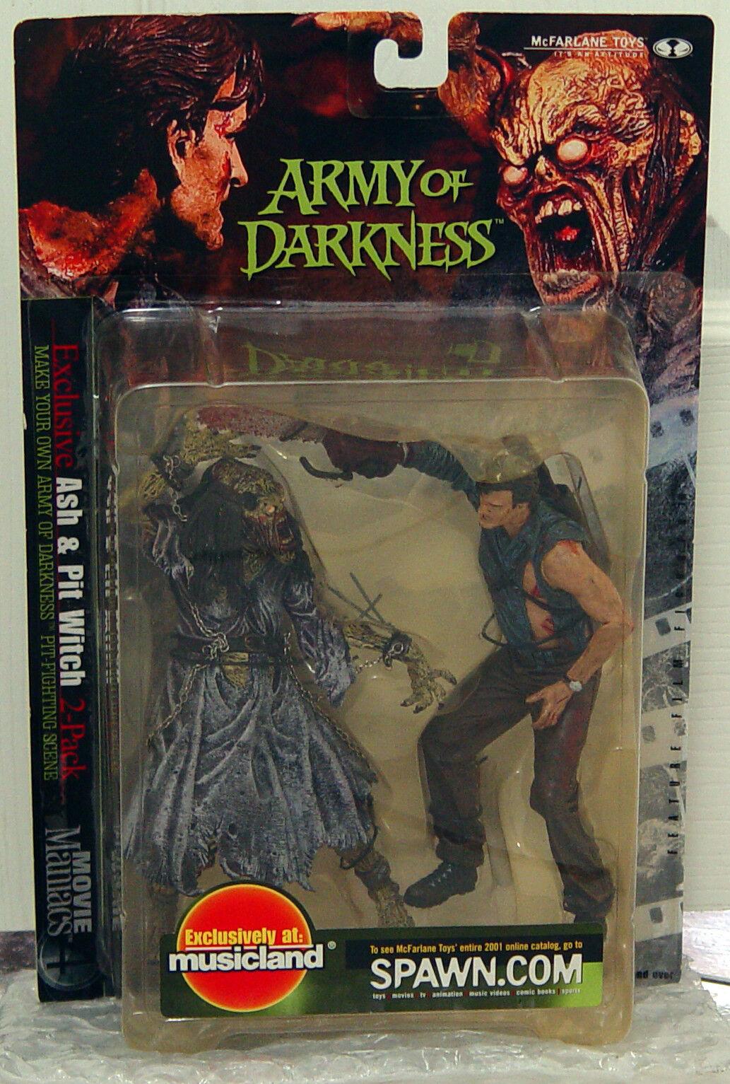 PIT Bruja vs ceniza Army of Darkness 7  figura conjunto Movie Maniacs Series 4 Mcfarlane