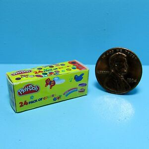 Dollhouse Miniature Replica Toy Box of Play-Doh ~ G059