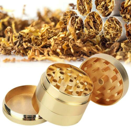 4-layer Smoke Grinder Aluminum Herb Tobacco Grinders Hand Crank Herbal Golden