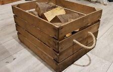 LOG BASKET / FIRE WOOD STORAGE  / FIREPLACE KINDLING BOX  Old Wooden Apple Crate
