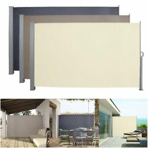 Seitenmarkise Sichtschutz 180*300cm Sonnenschutz Windschutz Terrasse UV  Camping