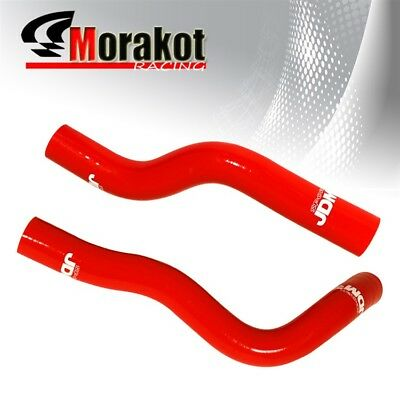 For Hyundai Genesis 2.0T Coupe Rohen JDM 3 Ply Nylon Silicone Radiator Coolant Hose Pipe Kit Red