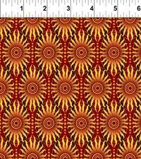 Fabric #2545, Red Sun Stripe, Gold Metallic, Jason Yenter, Sold by 1/2 Yard