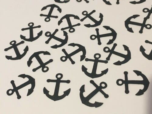 Black Anchor Confetti Nautical Table Pirate Party Summer Birthday Wedding 120pce