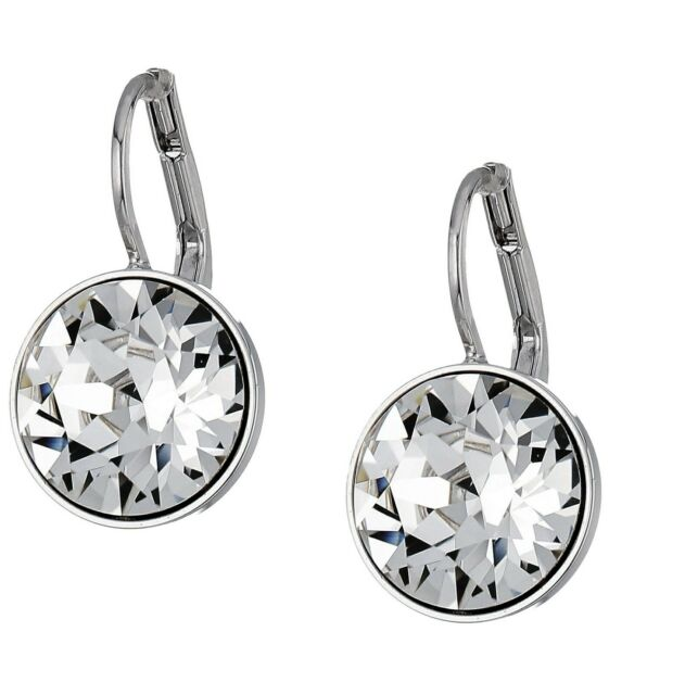 9aee852d4f31c New Authentic SWAROVSKI Rhodium White Crystal Bella Drop Earrings 5085608