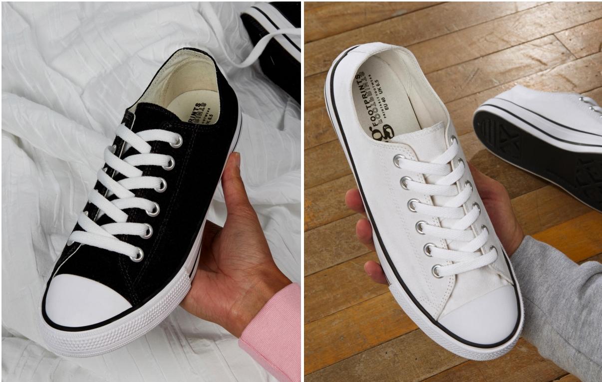 Low Top Printable Canvas shoes Unisex Chuck Sneaker black und white Gr. 35-48