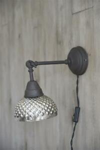 Jeanne-d-Arc-living-Franz-Lampe-Vintage-Wandlampe-Wandleuchte-Wall-Lamp-Silber