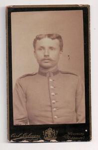 Vintage-CDV-German-Soldier-Military-Uniform-Carl-Galvagni-Photo-Wurtzburg