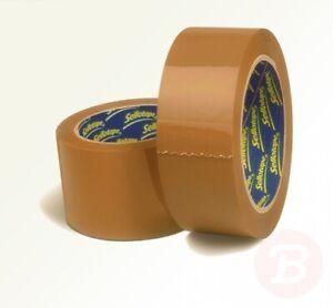 Sellotape-Parcel-Plus-Tape-packaging-Polypropylene-50mmx66m-Buff-Ref
