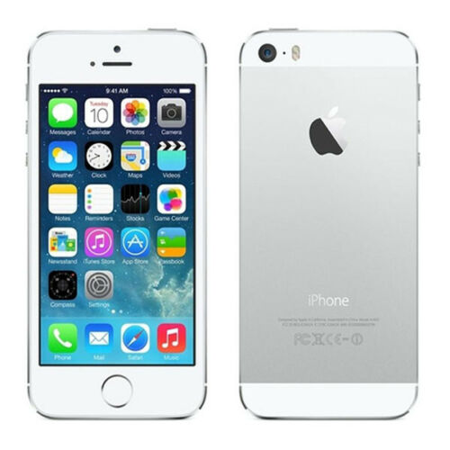 "Apple iphone 5S 64GB Sliver Unlocked AT&T T-Mobile Verizon Sprint 4.0""Smartphone"
