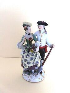 Meissen-Figur-Figurengruppe-Figurine-hoefisches-Paar-in-Gaertnerkleidung-1-Wahl