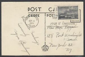 Canada - Sep 24, 1951 Tornto, On Card to States