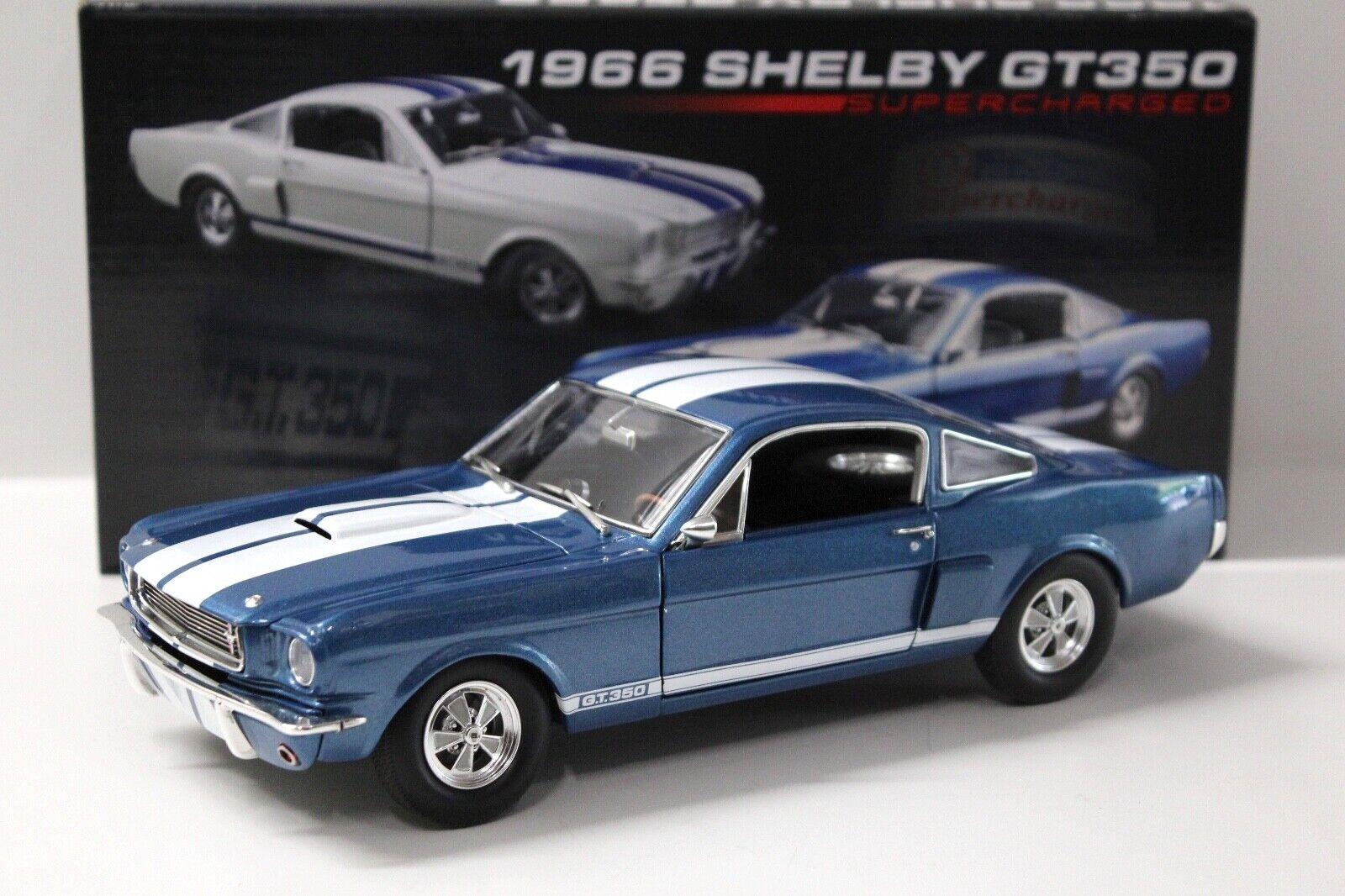 Envío rápido y el mejor servicio 1 18 Acme Mustang Shelby gt350 gt350 gt350 súpercharged azul 1966 New en Premium-modelCoches  Disfruta de un 50% de descuento.