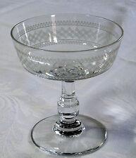 lot 3 coupes champagne SAINT-LOUIS XIXème - Cristal Gravé