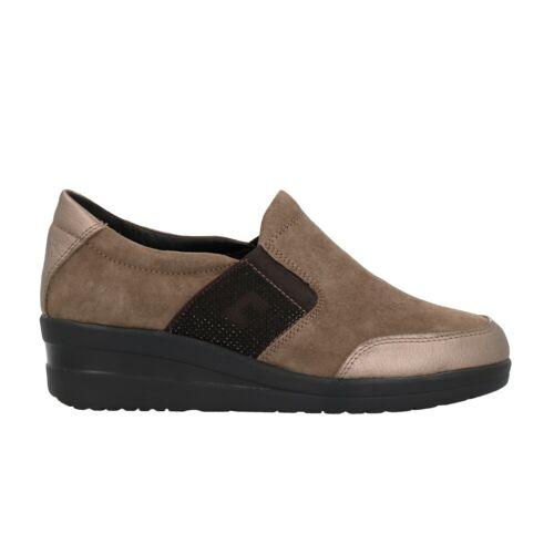IV7371C-DS CINZIA SOFT Sneakers zeppa taupe scarpe donna Memory Foam mod