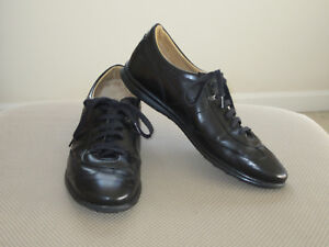 Details about MINT $129 CHARLES TYRWHITT BLACK LANSDOWNE LEATHER TRAINERS SHOES ENGLAND 9 M