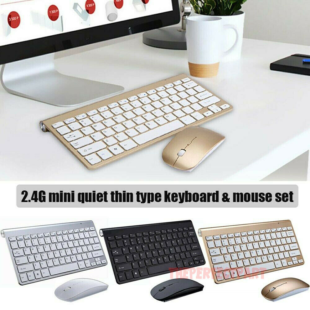 Black Wireless Mini Ultra Slim Keyboard and Mouse For Easy Smart TV Contol for Samsung Series 6 PS60E6500 60 Plasma Smart TV