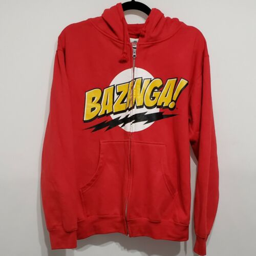 The Big Bang Theory Bazinga Zip Up Hoodie Size S