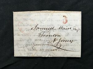 Stampless Entire 1848 Weak Freehold NJ ASCC Awesome Letter ?