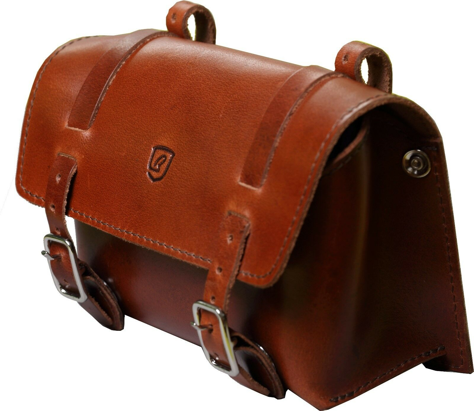 Brave classic saddlebag  brown leather buffalo large  no minimum
