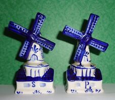 Delft Blue Windmill Salt and Pepper Shakers