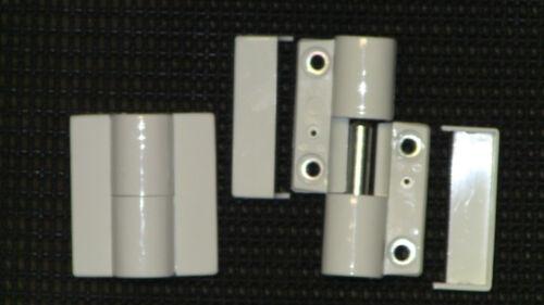 in Weiß 2 Stück DIN Rechts NEU 50mm Breit und 53mm Hoch Türbänder Hewi