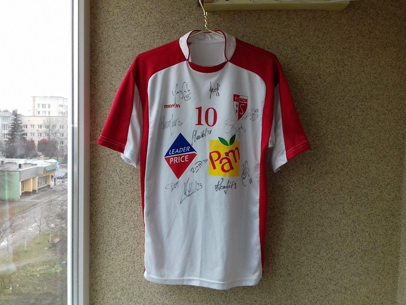 Camisetas de fútbol Casa Sion suizo de fútbol camiseta rara 2006 2007 Firmado