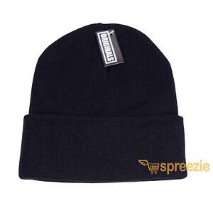 b7cf0fb9e9e Black Beanie Plain Knit Ski Hat Skull Cap Cuff Warm Winter Blank ...