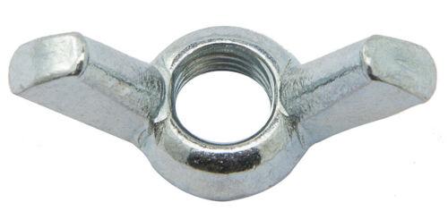 cf 10 pz di dado dadi a galletto acciaio zincato da 5 mm M maschio UNI5448