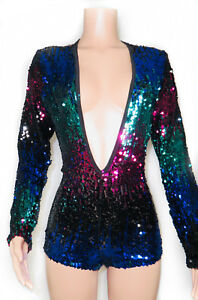 Nye Size Great Medium Sequin Outfit Small Large Romper cBZqZ5nY