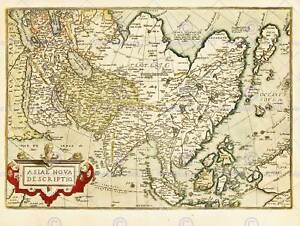 China Map Poster.Vintage Map History Asia China New Fine Art Print Poster Cc5082 Ebay