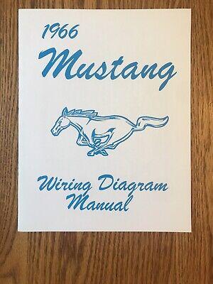 1966 ford mustang wiring diagram manual jim osborn scott drake sealed new   ebay