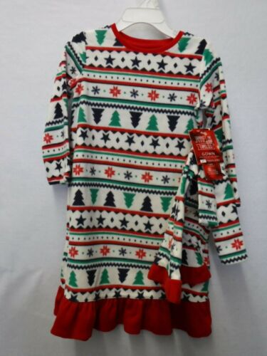 GIRLS SIZE 2T FAIRISLE NIGHTGOWN /& DOLL GOWN CHRISTMAS FLEECE PAJAMAS NEW #16390